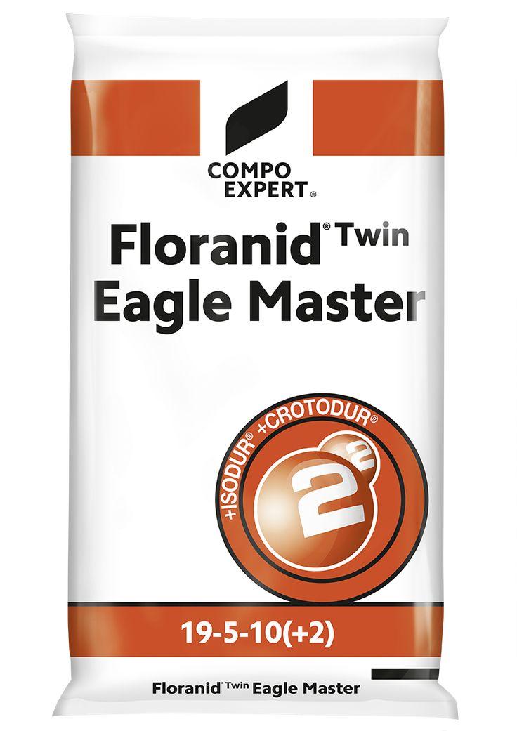 Floranid Twin Eagle Master Σύνθεση: 19-5-10 +2+IXN  19% ολικό άζωτο (2,5% νιτρικό 8,0% αμμωνιακό, 5,1% ISODUR®, 3.4% CROTODUR® ), 5% P2O5, 10% K2O, 2% MgO, 7% S.  ΙΧΝΟΣΤΟΙΧΕΙΑ: 0,02% B, 0,01% Cu, 0,7% Fe, 0,1% Mn, 0,01% Zn  Κοκκοποίηση: 0,5 – 1,8 mm  Η λύση που καλύπτει και τους πιο απαιτητικούς. Πολύ μικρής κοκκοποίησης λίπασμα πλούσιο σε άζωτο και ISODUR και CROTODUR, ιδανικό για ταχύτατα και μεγάλης διάρκειας αποτελέσματα. Κατάλληλο για συντηρήσεις σε χλοοτάπητες υψηλών απαιτήσεων όπως…