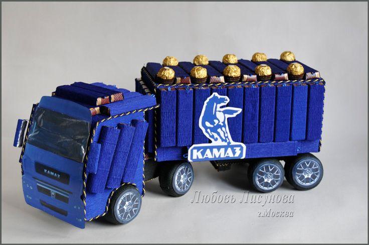 (1) Gallery.ru / КАМАЗ из конфет - автомобиль, паровоз, мотоцикл, корабли и др - candybuket
