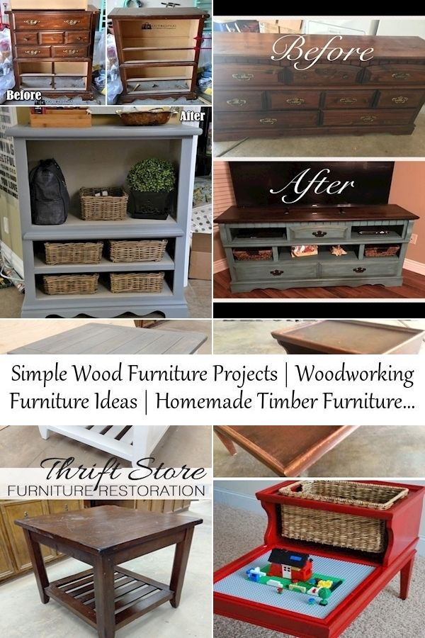 Simple Wood Furniture Projects Woodworking Furniture Ideas Homemade Timber Furniture Repurposed Furniture Diy Handmade Furniture Design Diy Furniture Hacks
