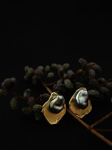 [Pearl Collection : 057] Pierces-K18YG/Keshi Pearl