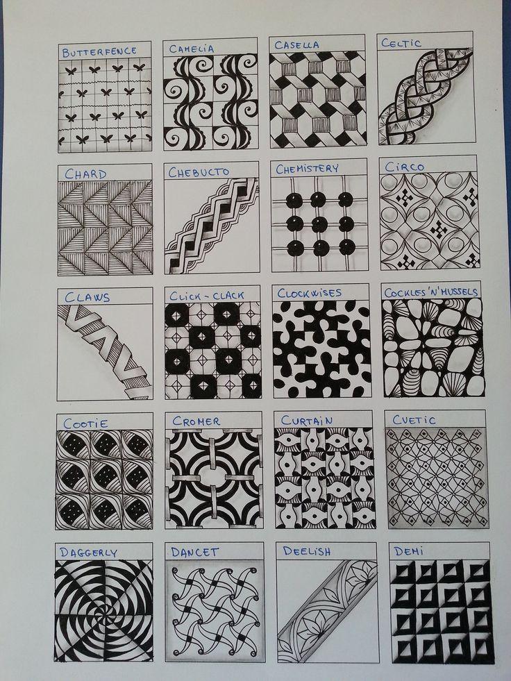 Zentangle mønstre..