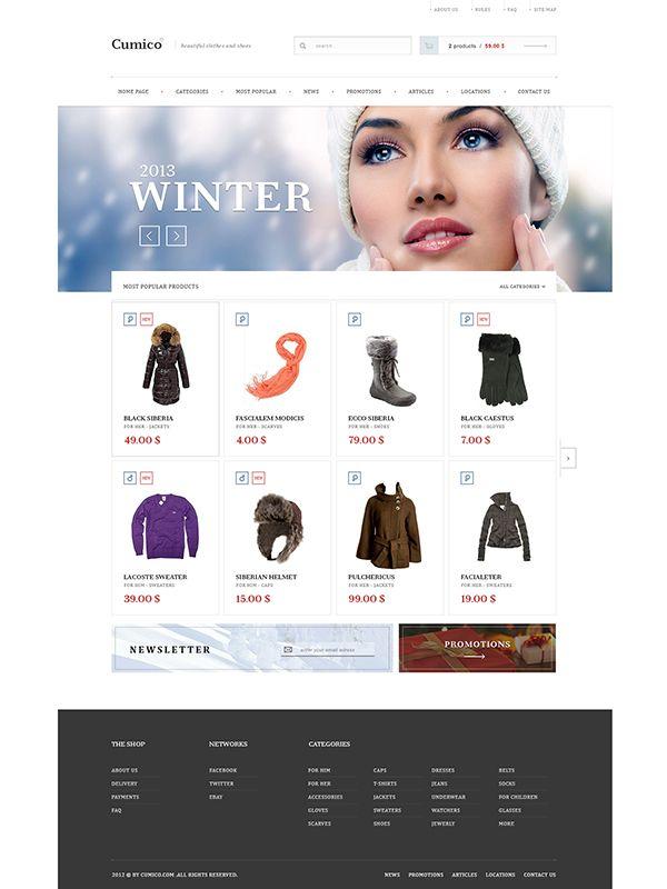 cumico shop on Behance #design #web #webdesign #layout #site #website #www #ecommerce #e-commerce #commerce #online #shop #store #fashion #clothes #clothing #winter #wardrobe