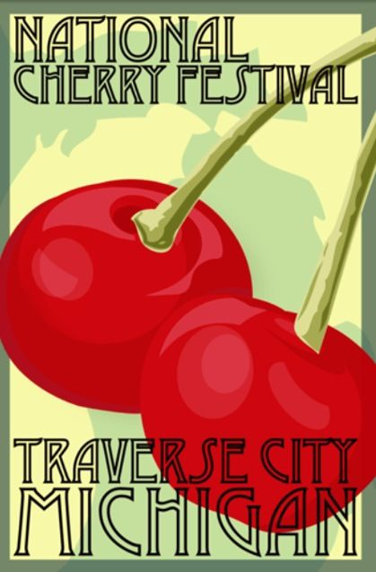 Michigan:  Traverse City Cherry Festival Travel Poster