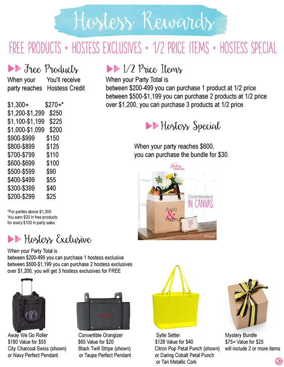 Expired Hostess Rewards Thirty One Spring Summer 2016 By