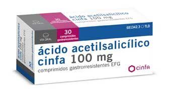 Cinfa lanza el primer medicamento genérico de ácido acetilsalicílico