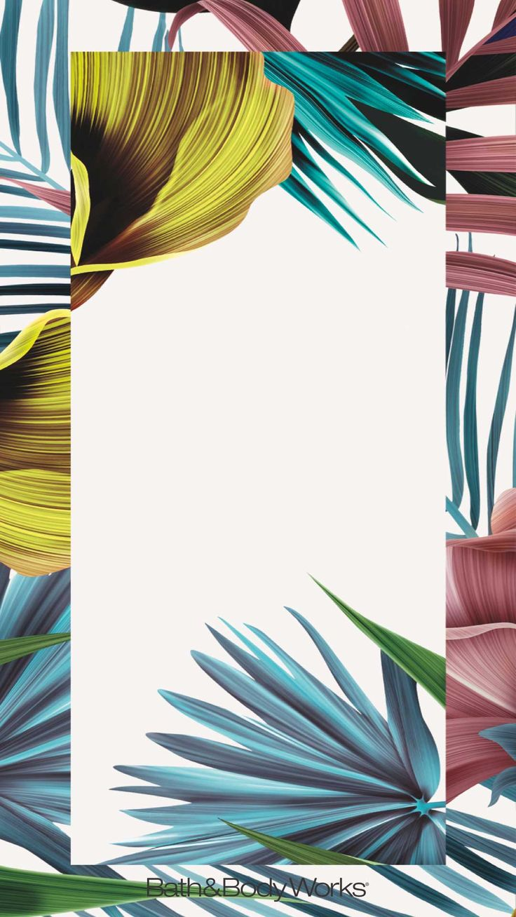 Tropical Flowers iPhone Wallpaper