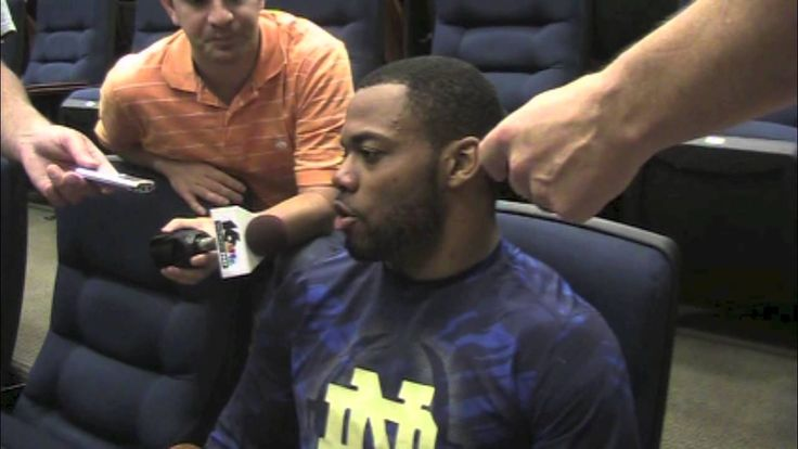 Notre Dame running back George Atkinson III spoke to the media following practice Aug. 9.  As always, BlueandGold.com was on hand to hear from the 6-1, 217-pound back.  During the media session, Atkinson addressed being the feature back and becoming more versatile, among other topics.