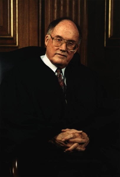 Former Chief Justice William Rehnquist, whom served on the United States Supreme Court from 1972 until his death in 2005.  I admire him for his brilliant reasoning, his great legal mind, and the fact that he stood against the majority his second year on the court, as one of two dissenting opinions in Roe v. Wade.  He is a conservative icon.