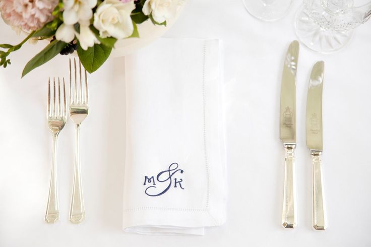Monogrammed Napkin - Cotton Napkins - Personalised Napkins - Monogram Wedding Idea - Monogram Wedding Gift - Monogram Table Linen by extraspecialtouch on Etsy https://www.etsy.com/listing/118628700/monogrammed-napkin-cotton-napkins