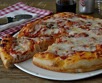 Pizza soffice, pizza margherita alta cotta in teglia sofficissima
