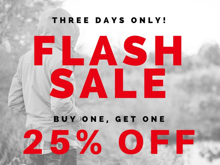 | FLASH SALE | Buy one, get one 25% off this weekend only on new arrival clothing and footwear