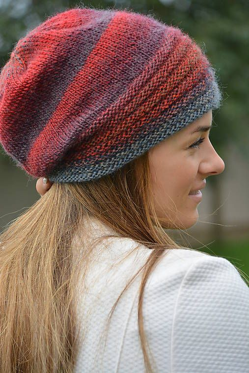 34108c879 Odstiny vínovošedé / uAnny | knitting dámske pletené čiapky | Knitted hats,  Knitting patterns a Arm knitting