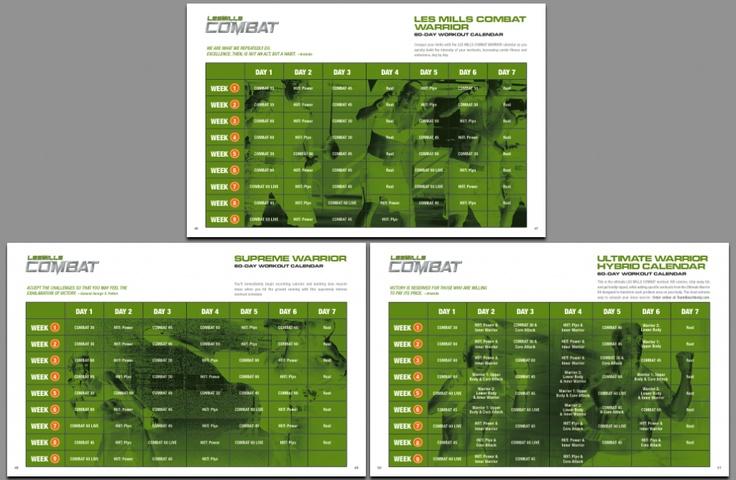 Les Mills Combat Schedule | Free PDF Download] Les Mills Combat Workout Schedule and Calendar ...