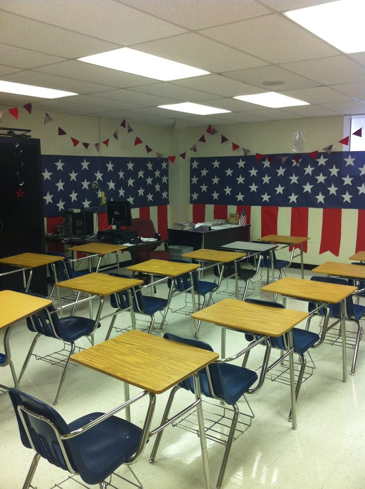 Coach Folkerts American history classroom decorations