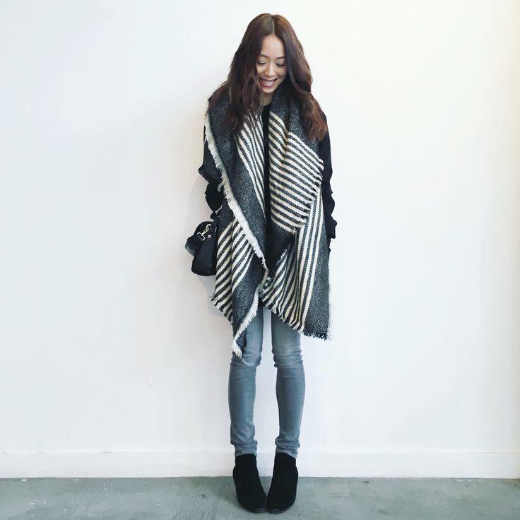 My style: Noul blanket scarf, Rag and Bone skinny jeans, Isabel Marant dicker boots, Zara mock croc bag #isabelmarant #zara #shopnoul #oakandfort #ragandbone #aritzia #dailylook #dailyoutfit #fashion #fashiondiaries #lookbook #mystyle #myaritzia #NowhereEverywhere #ootd #outfit #ootdwatch #style #stylegram #styleinspo #streetlook #streetstyle #streetfashion #wiwt #whatiwore