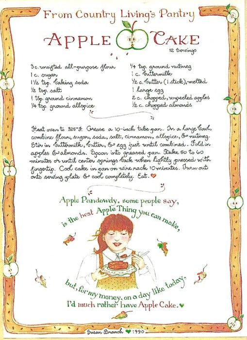 apple cake from susan branch