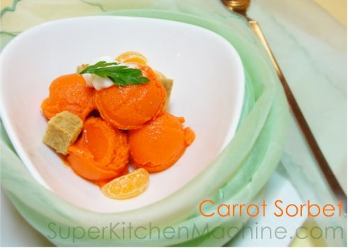 A delicious #Thermomix variation of the NOMA  #recipe - Carrot Sorbet! More at www.SuperKitchenMachine.com
