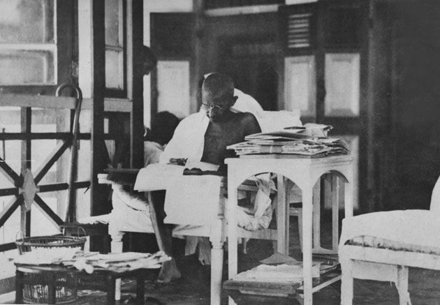 Mahathma Gandhi reading a book - Google Search