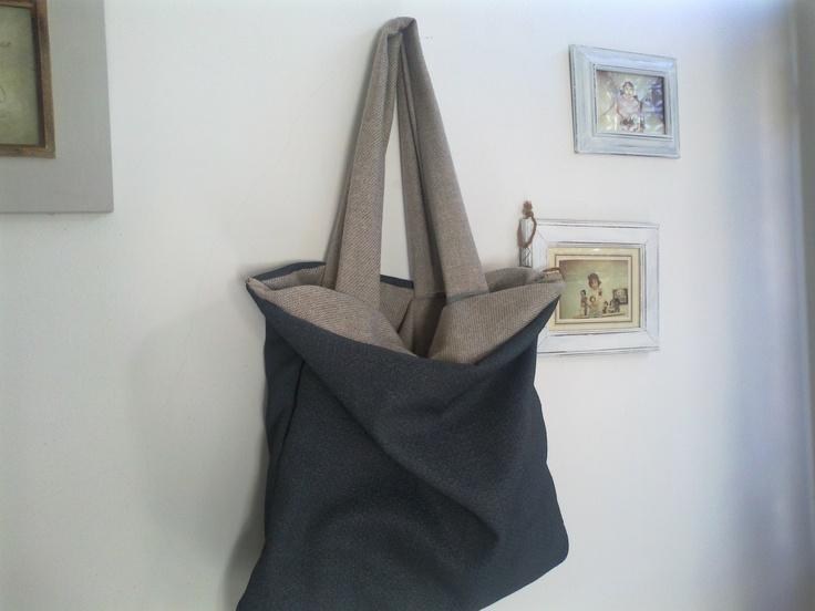 My works: borsa realizzata con tappezzerie