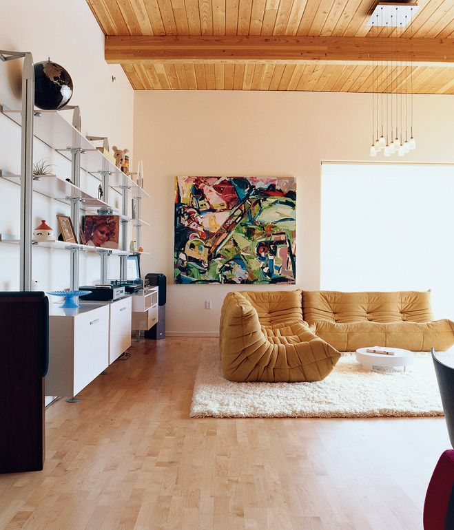 In A Portland Apartment, Ligne Rosetu0027s Booku0026Look Series Of Modular  Furniture Offers Storage (and The French Companyu0027s Now Iconic Togo Sofa  Offers Seating).