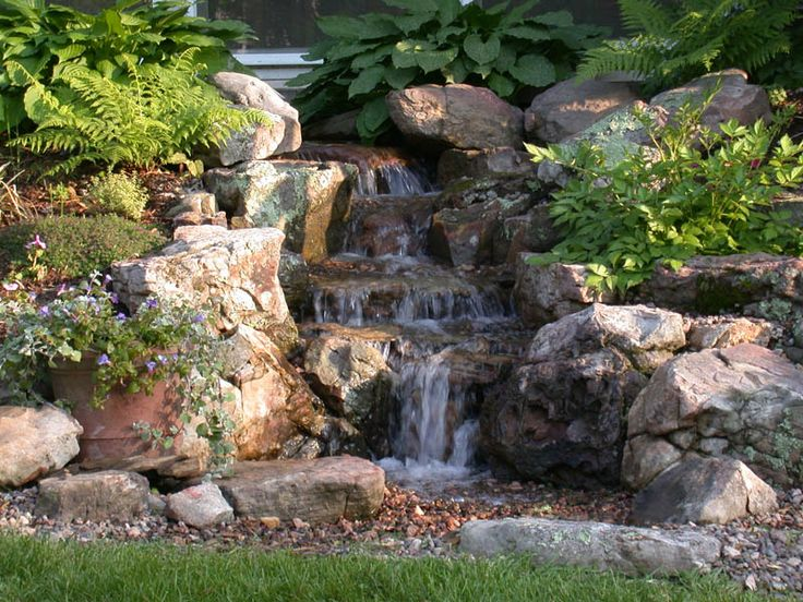 17 best images about ponds and waterfalls on pinterest for Design of pondless waterfalls