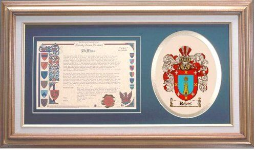 $109.99 Reyes Family Name History and Coat of Arms / Family Crest
