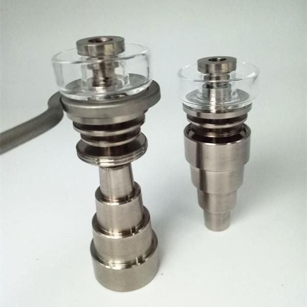 Wholesale GR2 DualiTi HyBrid Domeless Titanium Nail 10mm 14mm 18mm 6 iN 1 Titanium Nails Dab For Glass Bong Wax