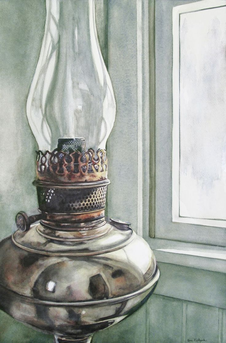 Fine watercolor art for sale -  Tina S Lamp 19 5 12 75 Watercolor On Paper Http Www