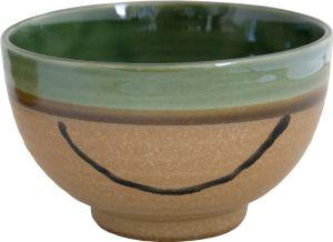Brown green matcha bowl