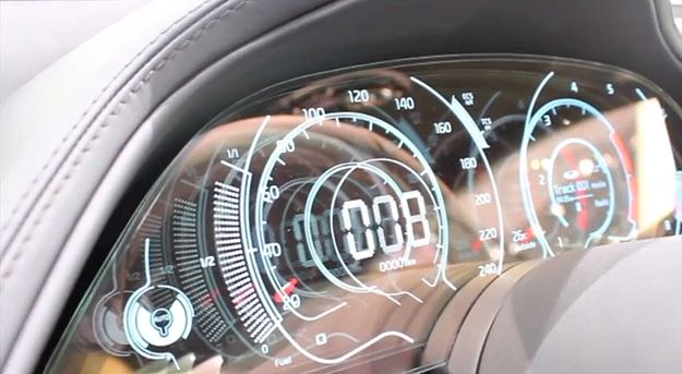 KIA GT Sports Transparent OLED Car Dashboard Display #technology #FaureciaNAIAS2014
