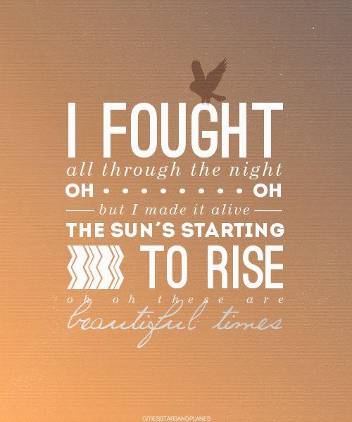 Adam Young - Beautiful Times Lyrics. Love his lyrics