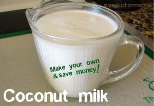 Coconut milk recipe