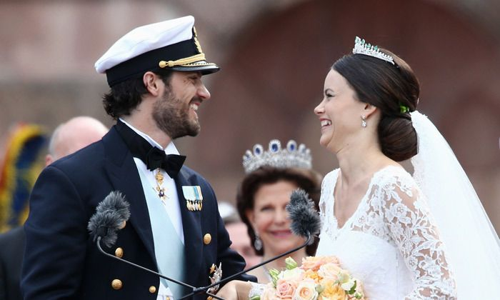 PRINCESS SOFIA AND PRINCE CARL PHILIP OF SWEDEN  Before meeting her Prince, Sofia was a model and had starred in the reality TV series 'Paradise Hotel.' The unlikely couple tied the knot in 2015 after five years of dating and still look like they're on honeymoon.