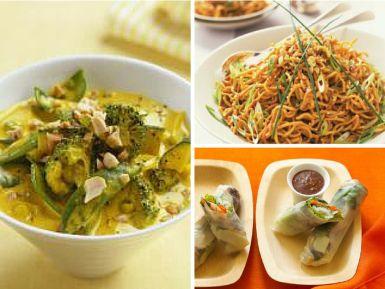 Receitas tailandesas vegetarianos e veganos