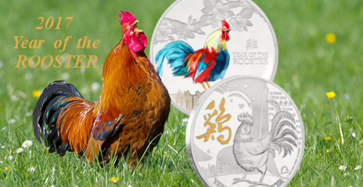 2017 Year of the Rooster Lunar Coins from New Zealand Mint