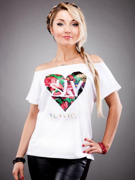 Biała bluzka folk - kolekcja SLAVICA od Cleo