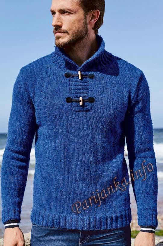 Пуловер (м) 07*183 Bergere de France №4697