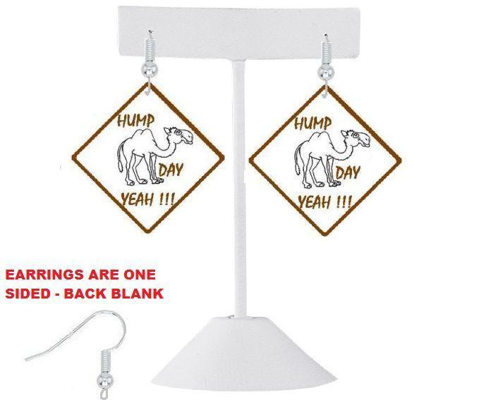 HUMP DAY EARRINGS - WEDNESDAY EARRINGS -  GEICO CAMEL EARRINGS