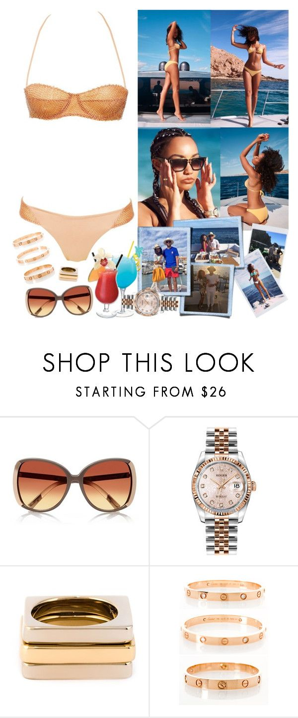 """""""Vacation in Cabo San Lucas (Mexico), with Leigh-Anne and Jordan"""" by valeria-angel ❤ liked on Polyvore featuring River Island, Rolex, Chloé, Cartier, women's clothing, women's fashion, women, female, woman and misses"""