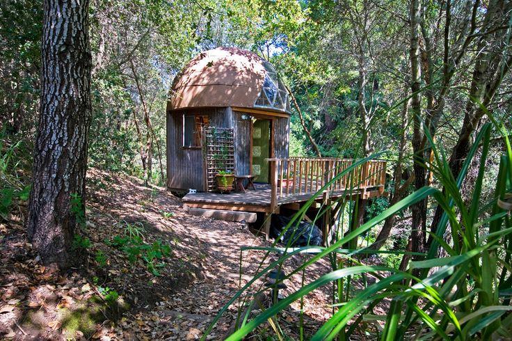 Mushroom Dome Cabin: #1 on airbnb - vacation rental in Santa Cruz, California. View more: #SantaCruzCaliforniaVacationRentals