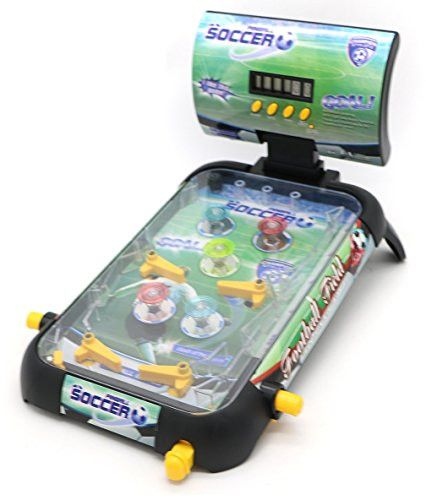 Little Treasures Pinball Game â Now play soccer on a green turf in the pinball style; ideal table board game for your 4+ child