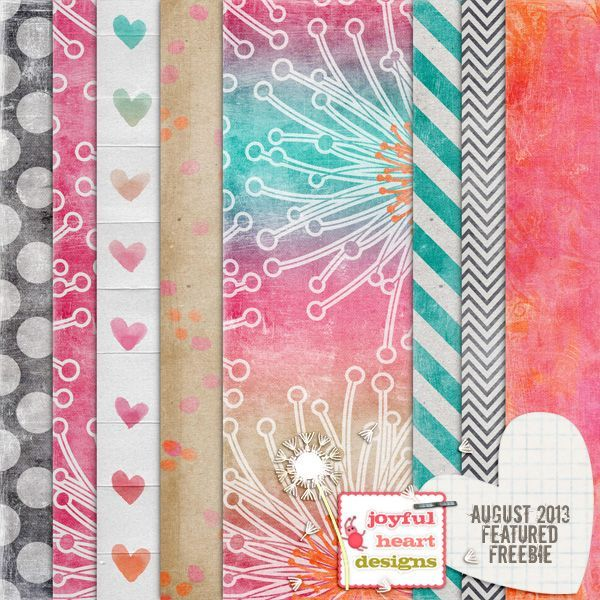 free Summer digital paper in coral and bright. Printable Craft paper