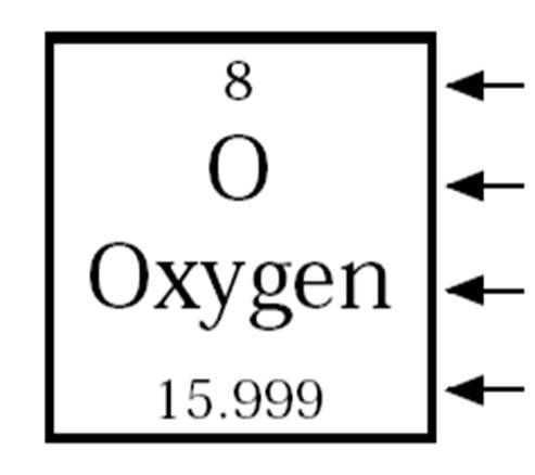 Symbol for oxygen element box view symbol urtaz Images