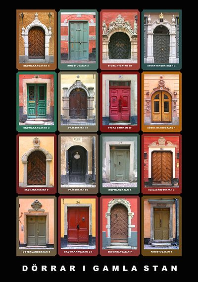 Sideboard Av Koksskap : Doorways of Gamla Stan, Sweden poster ASPEN CREEK TRAVEL  karen@