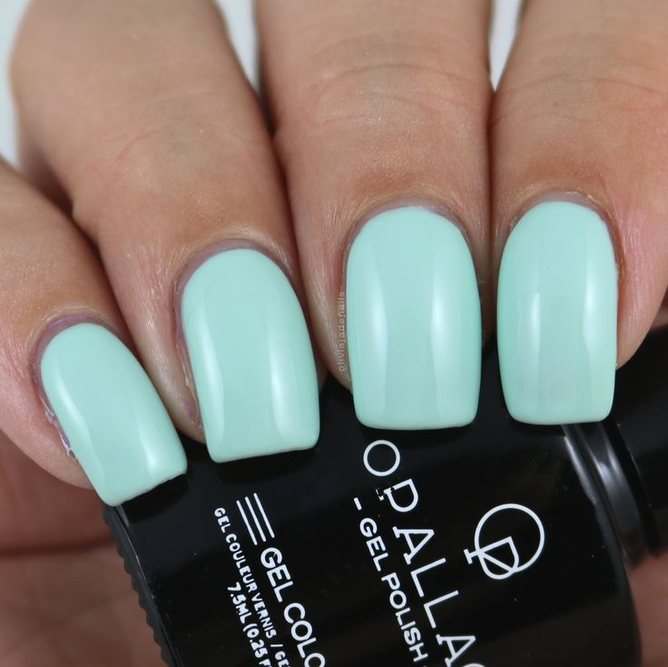 Opallac Gel Polish Appletini swatched by Olivia Jade Nails