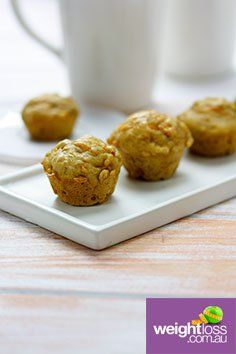 Carrot Oat and Walnut Muffins. #HealthyRecipes #DietRecipes #WeightLossRecipes weightloss.com.au
