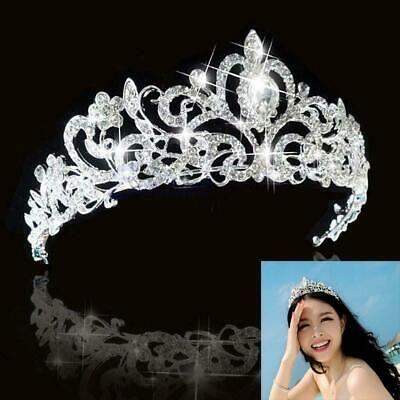 (eBay Ad) Bridal Bridesmaid Wedding Prom Crystal Rhinestone Diaman Crown Tiara Headband JM