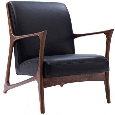 Black & Walnut Joakim Scandinavian Armchair by Temple & Webster. Get it now or find more Armchairs at Temple & Webster.