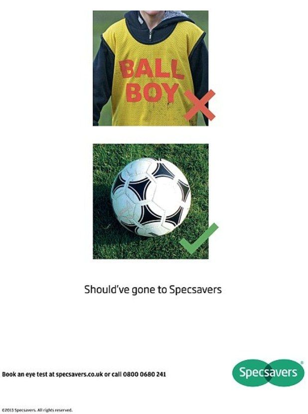 specsavers - ball boy - should have gone to specsavers