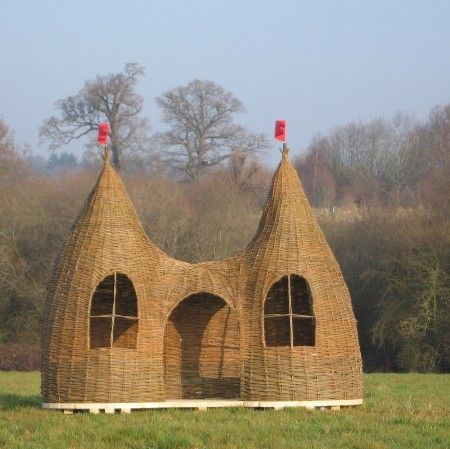 amazing creation from a English willow weaver! #Wove at #Etsy! truly inspiring work! #Dreaming spires willow playhouse